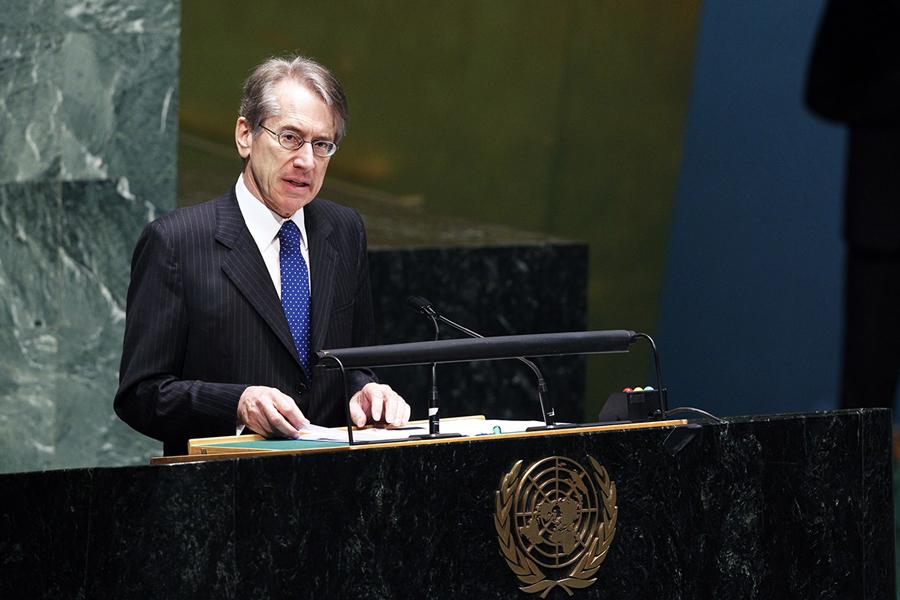 Il Ministro Giulio Terzi interviene di fronte all'Assemblea Generale delle Nazioni Unite