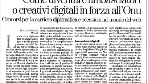 Come diventare ambasciatori o creativi digitali in forza all'Onu