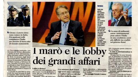 I marò e le lobby dei grandi affari